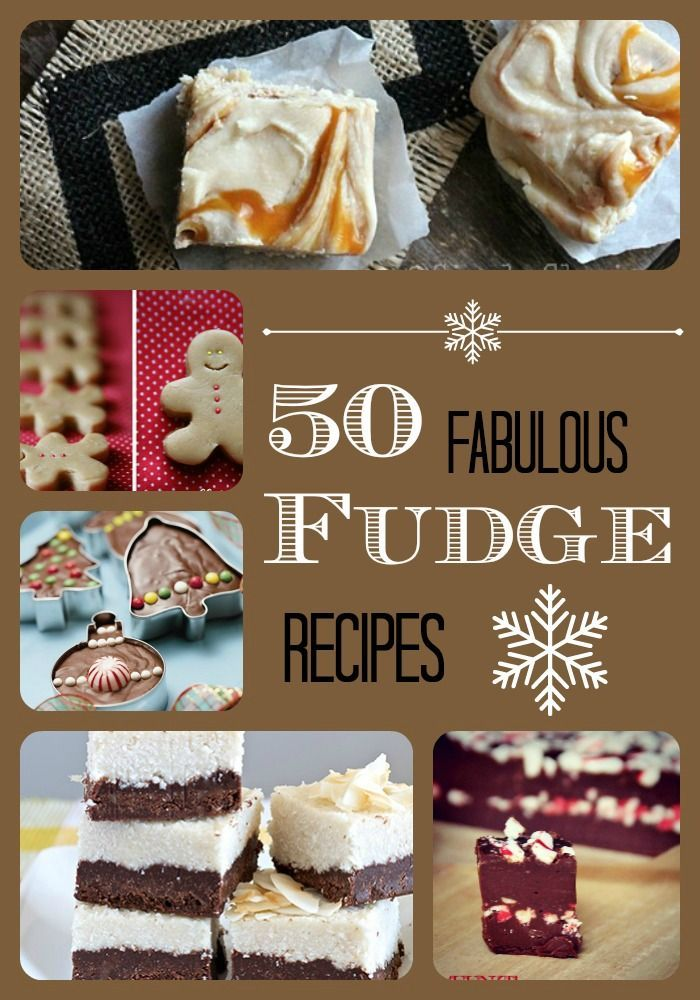 50 Fabulous Fudge Recipes for all your holiday parties and gift giving needs.