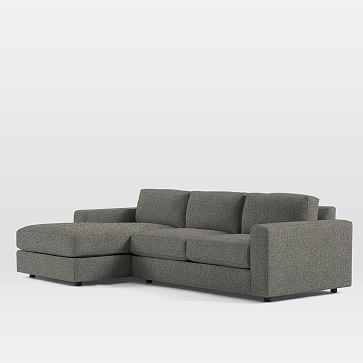 Urban Extra DeepSet 15: Left Arm 3 Seater, Right Arm Chaise, Marled  Microfiber, Licorice, Down Fill | Urban And Products