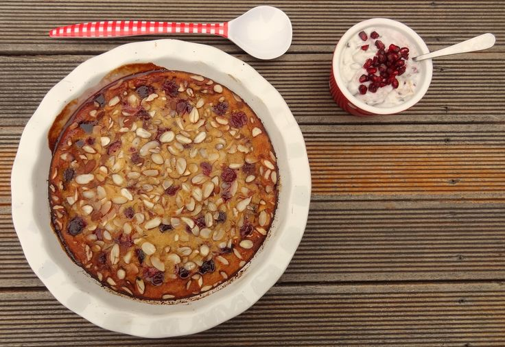 * Cherry and Almond Clafoutis with Lemony Coconut Whipped Cream *