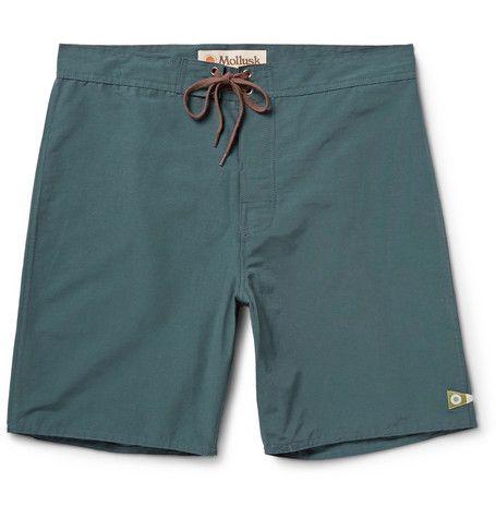 Mollusk Pennant Cotton-Blend Swim Shorts   MR PORTER