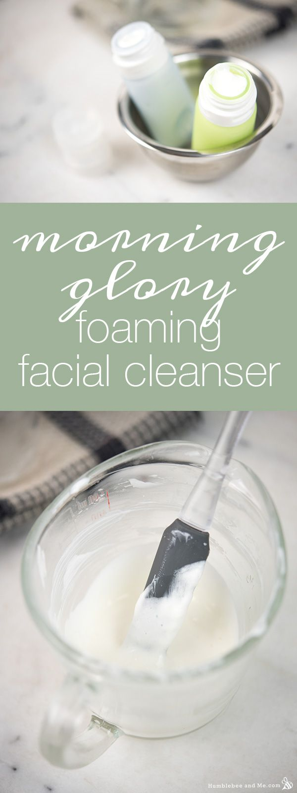 Morning Glory Foaming Facial Cleanser | Humblebee & Me