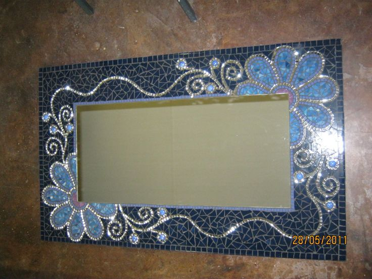 Mosaic flower mirror by Lisa B