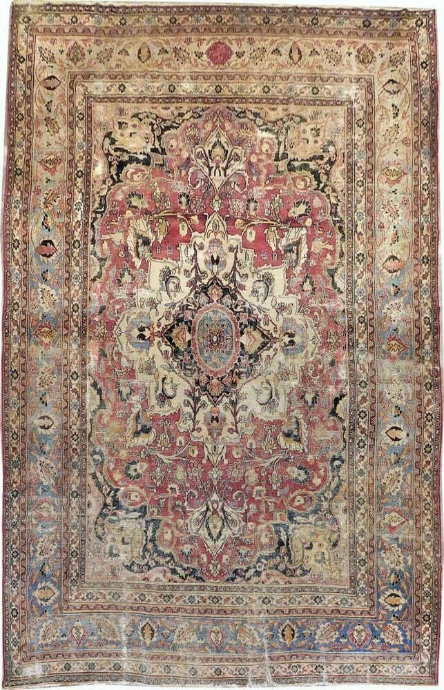 Details About Authentic Distressed Antique Hand Knotted Rug 8 4 X 13 Antique Persian Rug Persian Rug Rugs