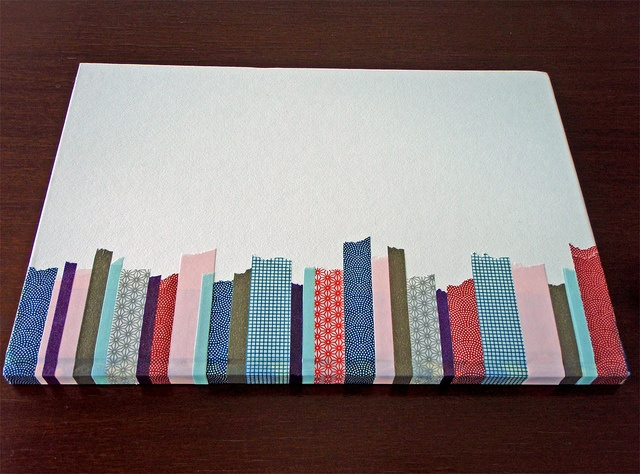 Joy's beautifully decorated Notebook using torn strips of MT Masking Tape by MT Masking Tape, via Flickr