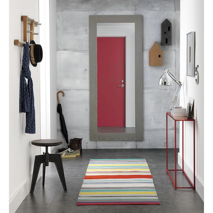Mini red console table | CB2 like this red thing for our entry way