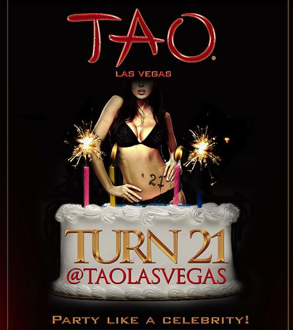 "Want to go here for my 21st! TAO LAS VEGAS. Free admission on your 21st, a free round for you and your friends, a custom birthday invite, a photo on TAO's famous red carpet, and a free ""I turned 21 @ TAO's Las Vegas"" tee shirt!"