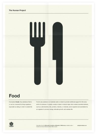The Human Project (Food) Poster