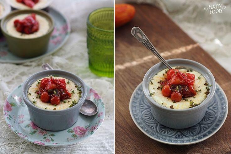 Сырный крем на пару с карамелизированными томатами - HAPPYFOOD