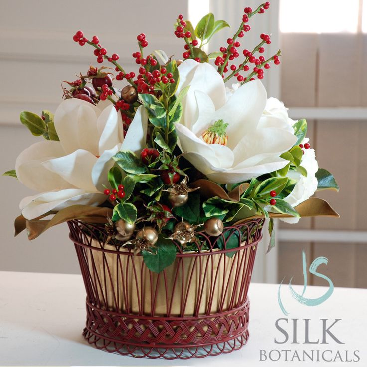 Holly Christmas Centerpiece From You Flowers : Best images about magnolia flowers on pinterest