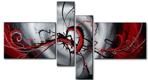 Wieco Art Abstract Modern Oil Paintin…