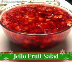 Jello Fruit Salad - my parents used to make this fruit salad with a can of fruit cocktail and some jello, cherry and lime were the best