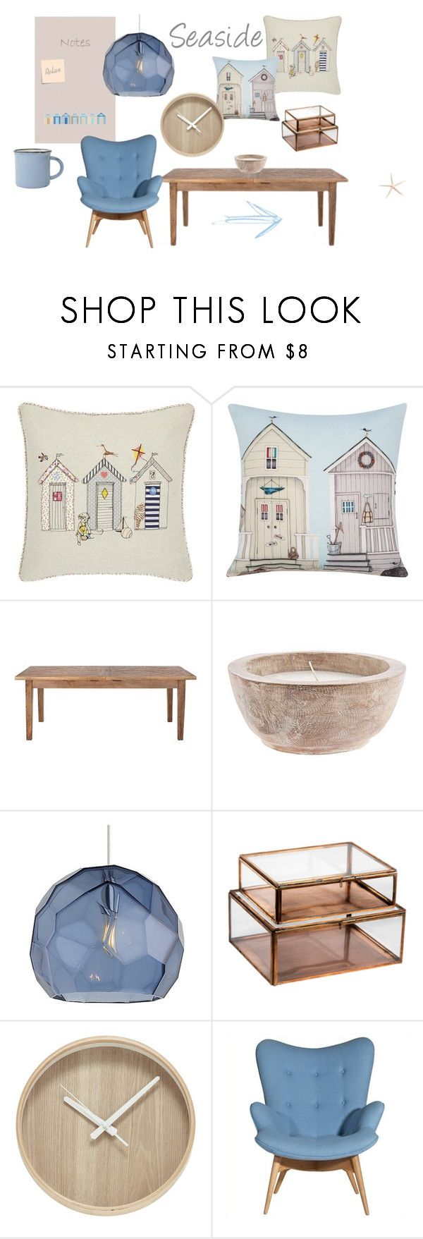 """Beach Side Home"" by magneticnoticeboardco on Polyvore featuring interior, interiors, interior design, home, home decor, interior decorating, Home Decorators Collection, Tech Lighting, NKUKU and canvas"