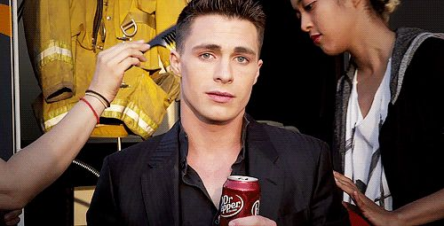 This eyebrow movement that I can't even talk about right now. | Colton Haynes Sings, Is Officially The Most Perfect Human Ever