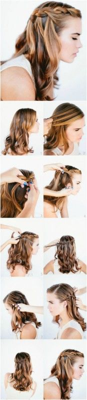 Start with the Basics - Basic Waterfall Braid Tutorial