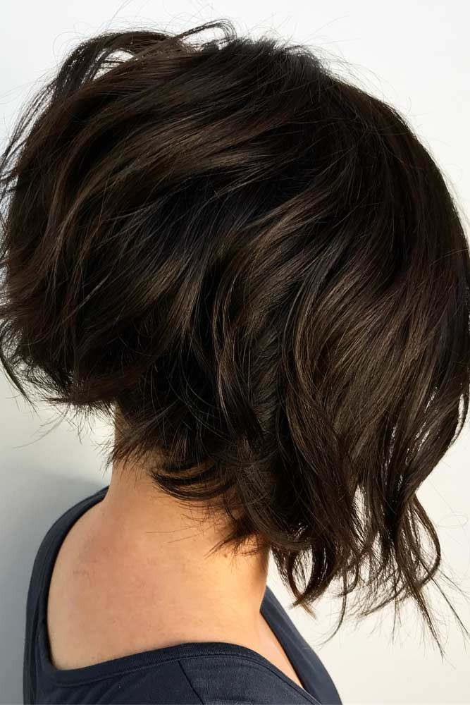 Short Inverted Layered Bob Cut #invertedbob #brownbob ★ In case you would like to discover the most popular short layere…