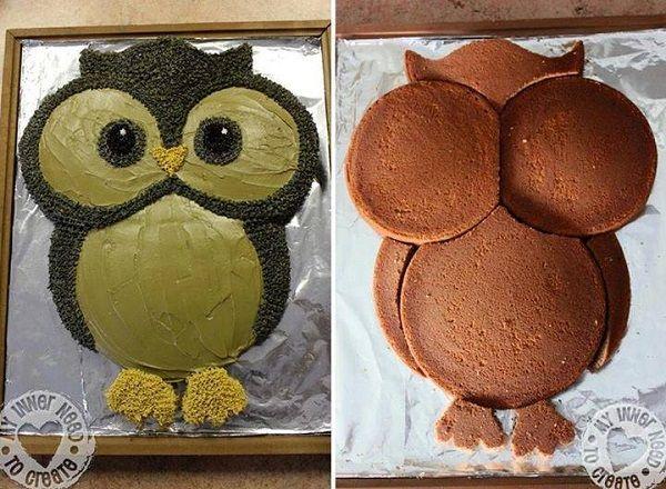 DIY Cute Owl Cake - http://www.decorationarch.com/creative-ideas/diy-cute-owl-cake.html -