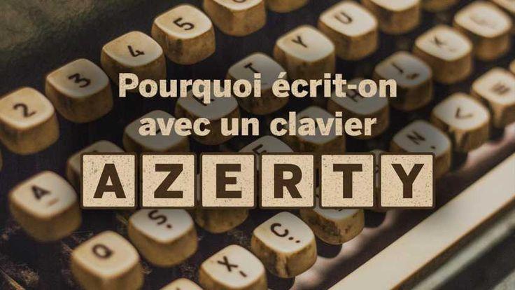 Pourquoi écrit-on sur un clavier AZERTY ?  Pourquoi écrit-on sur un clavier AZERTY ? | Quand on y regarde de près on se rend compte que les claviers de nos ordinateurs ne sont pas très ergonomiques. Les lettres semblent éparpillées un peu au hasard. Pour comprendre comment les Français se sont retrouvés à écrire sur des claviers AZERTY il faut remonter aux origines de la machine à écrire. Et là surprise : les raisons précises de cette disposition qui a traversé les âges sont encore…