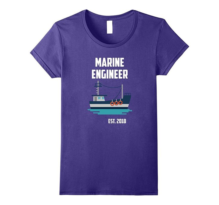 Gift For New Marine Engineer Est 2018 T-Shirt
