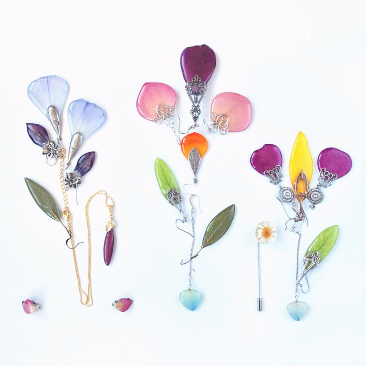 new collection realflowers earrings epoxy resin jewelry