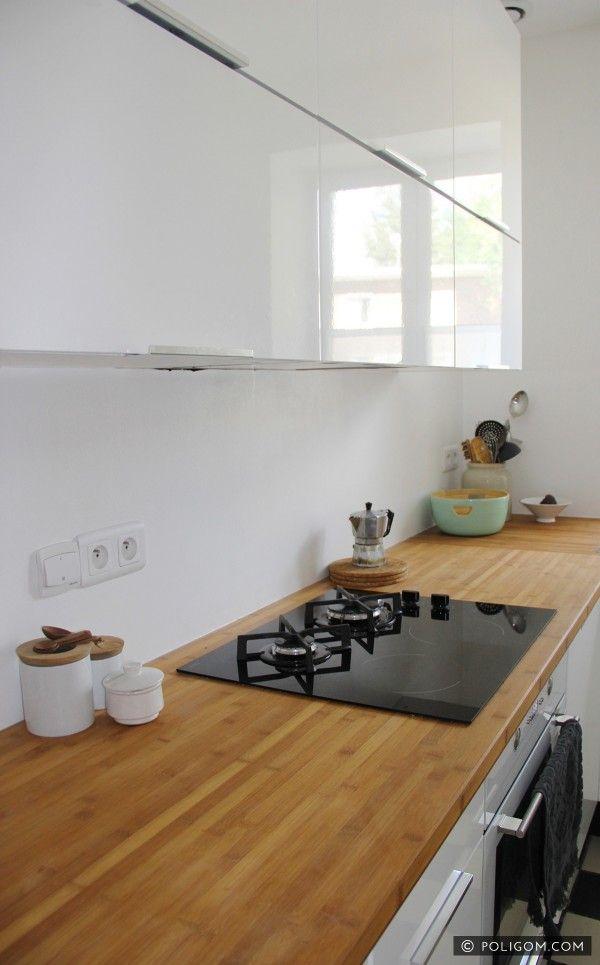 Blanc éclatant pour la nouvelle cuisine d'Emilie   Visite privée - Cotemaison.fr
