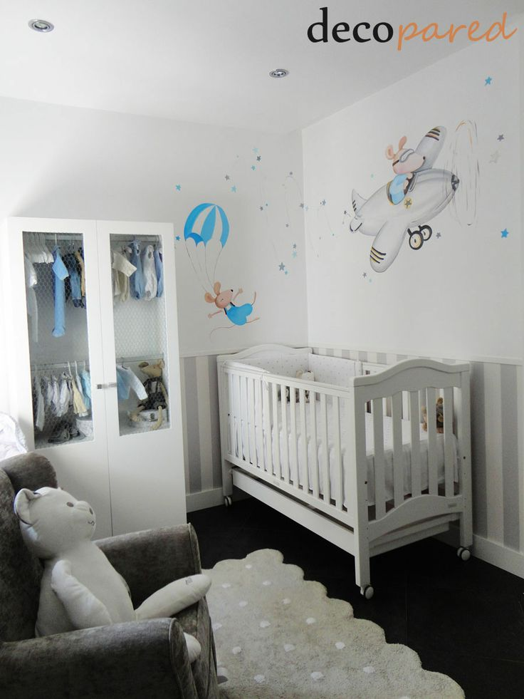 23 best dormitorios images on pinterest habitaci n for Murales habitacion bebe