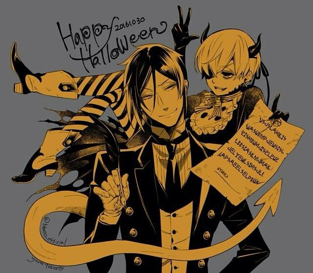 Happy holloween black butler sebastian and ciel Phantomhive