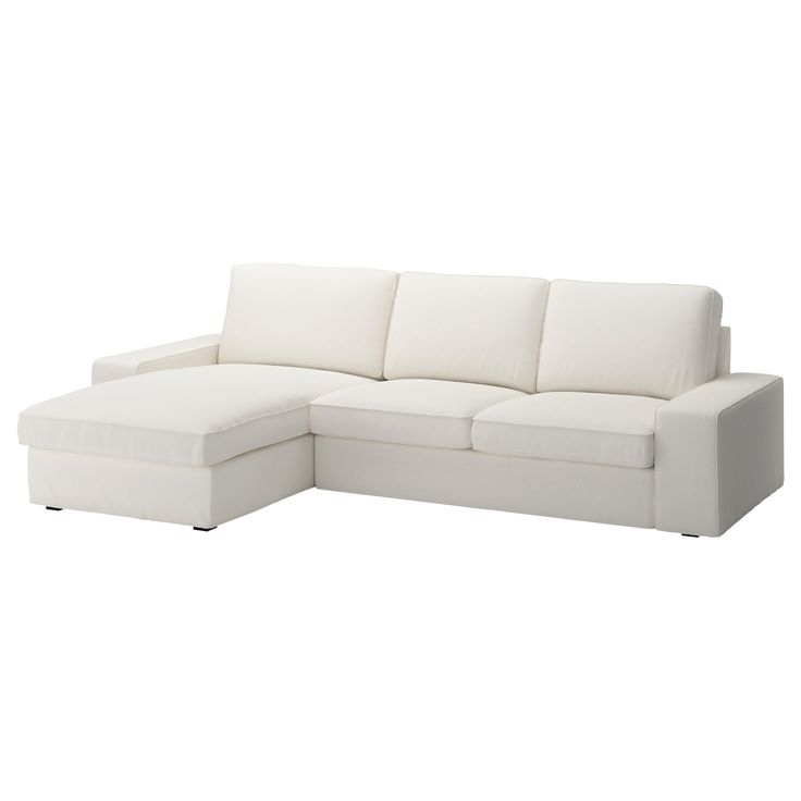 Kivik Loveseat And Chaise Lounge - Dansbo White - Ikea | Apt - To