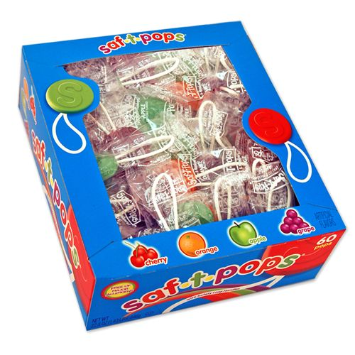 Saf-T-Pops Assorted Flavor Lollipops
