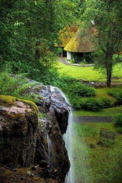 Kilfane Glen in Kilkenny County, Ireland