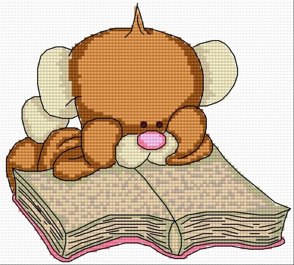 We're reading, we're rading (teddy bear, book, for children)