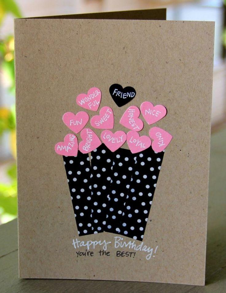 Открытка на день рождения подруге своими руками 8 лет, открытки