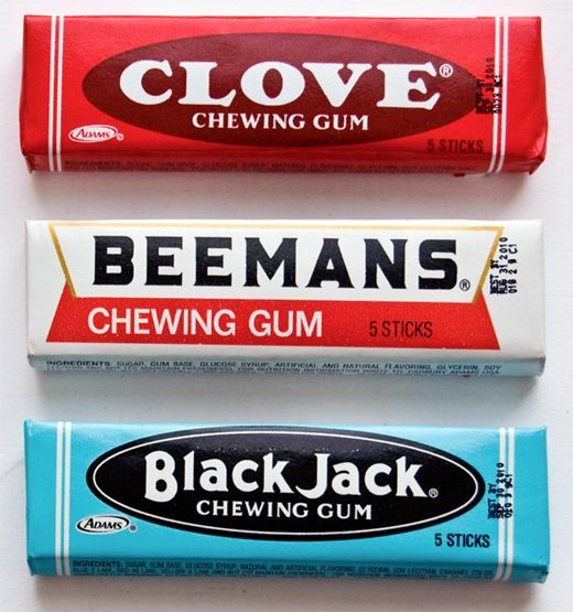 Vintage Chewing gum - Clove & Beemans & Black Jack Packs find