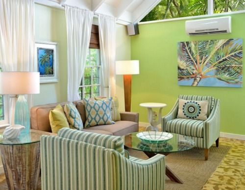 Tropical Palm Tree Lime Green Decor: http://www.completely-coastal