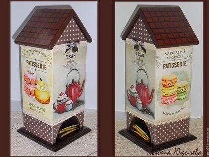 """Кухня ручной работы. Ярмарка Мастеров - ручная работа. Купить Чайный домик """"Время чаепития"""". Handmade. Коричневый, хранение чая"""