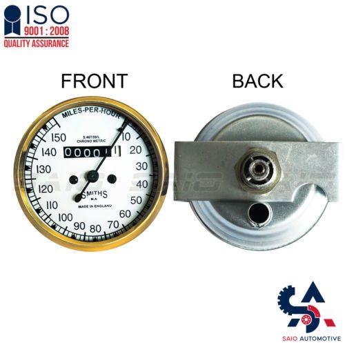 Smiths Replica Speedo Meter Speedometer 0-150 MPH White For BSA Brass