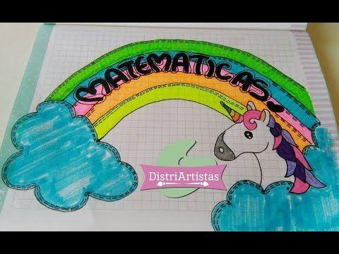 Aprende a marcar tus cuadernos con unicornio y arcoiris en Hecho con estilo - YouTube