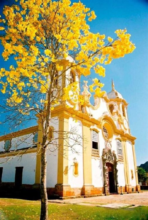 Igreja Matriz em Tiradentes - Minas Gerais - Brasil + Matrix Church in Tiradentes
