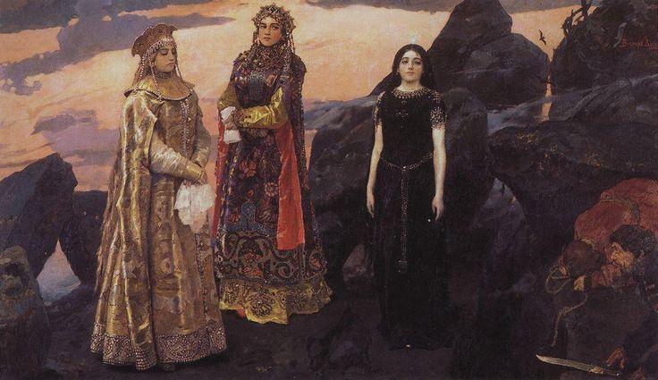 "post-impressionisms: ""Three Princesses of the Underworld, Viktor Vasnetsov. 1884. """
