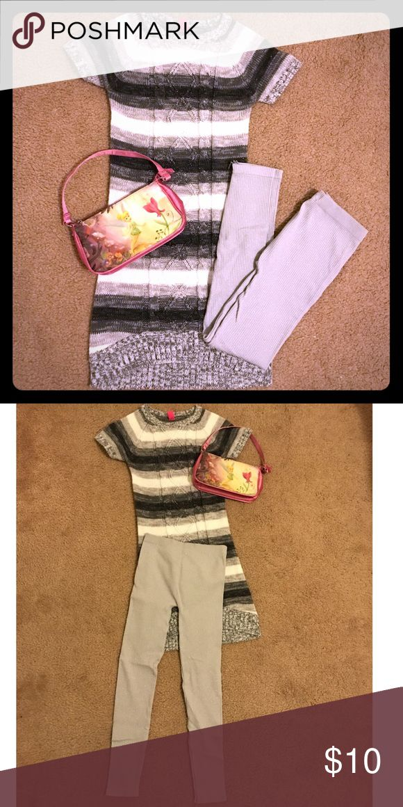 Girls complete outfit! Girls complete outfit, sweater dress with shimmery leggings. Other