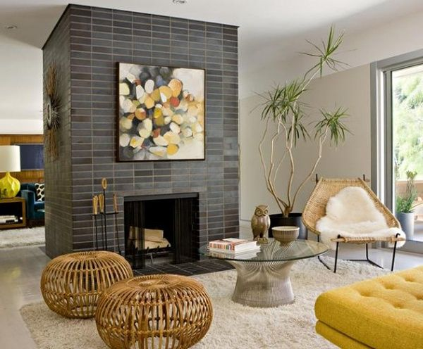 Mid Century Modern Living Room With Fireplace 8 best asian meets mid-century images on pinterest | living spaces