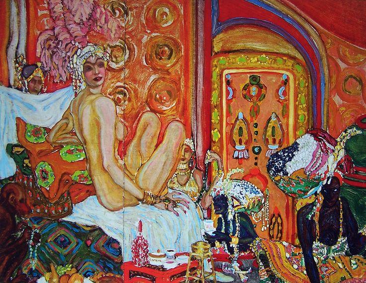 Gróf Batthyány Gyula - Háremben / In Harem, 1910 körül, karton, olaj,