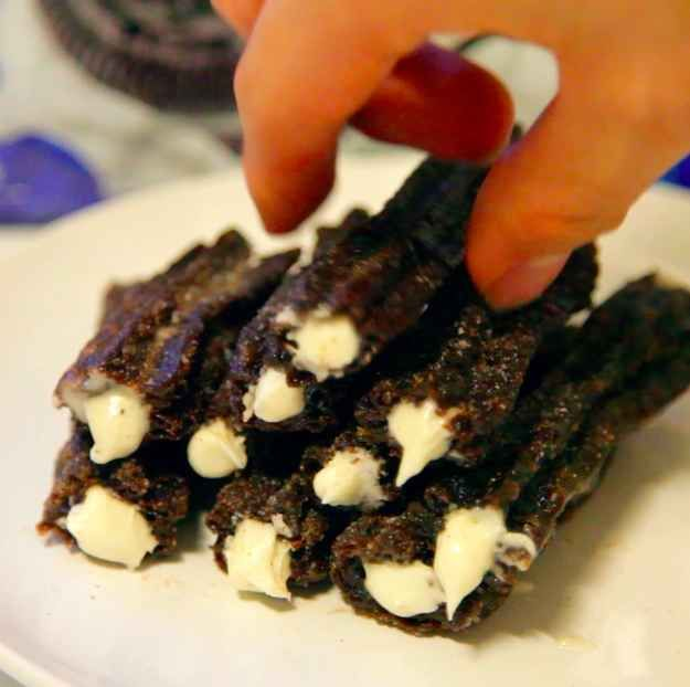 Here's how to make your own Oreo Churros  This is heavenly!