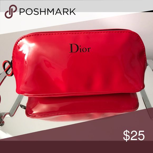 NEW DIOR MAKEUP BAG Super cute! New Dior MAKEUP BAG. Came in a package with a makeup purchase from Nordstrom Dior Makeup
