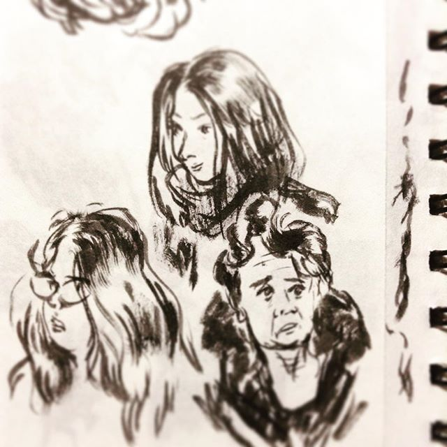 In the trane #drowing #sketch #ink #people