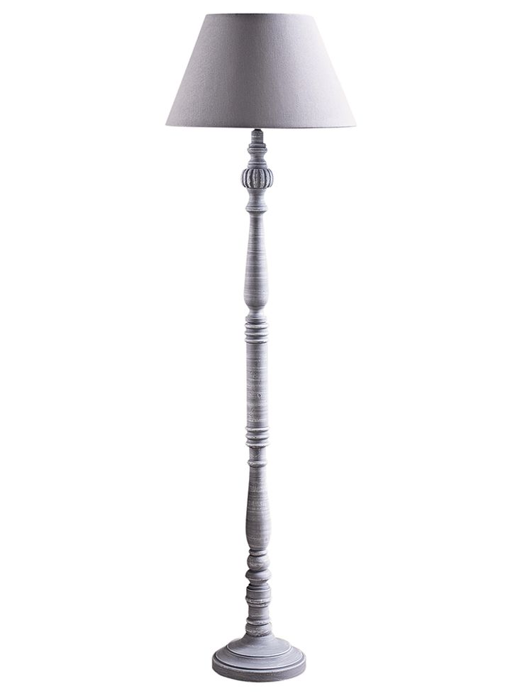 NEW Elegant Grey Wood Floor Lamp - Floor Lamps - Lighting