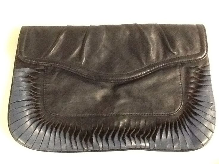 H&M Faux Leather Blue Clutch Evening Bag Purse Handbag H & M #GAP #Handbag