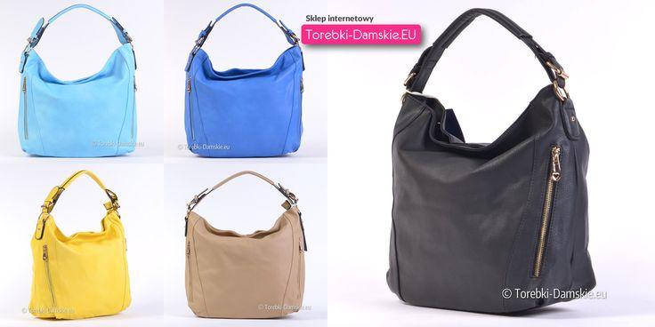 Dostępne kolory nowego modelu #torebki na lato. Piękne odcienie błękitu i niebieskiego, żółta, a także uniwersalne beżowa i czarna.