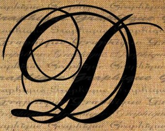 monogram initial letter d – Etsy