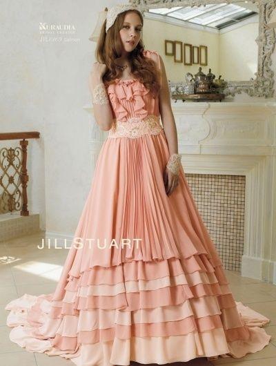 女の子の憧れ♡JILLSTUARTのロマンチックなカラードレスにくぎづけ!ピンクのスレンダー ウェディングドレス・花嫁衣装・カラードレスのまとめ一覧♡