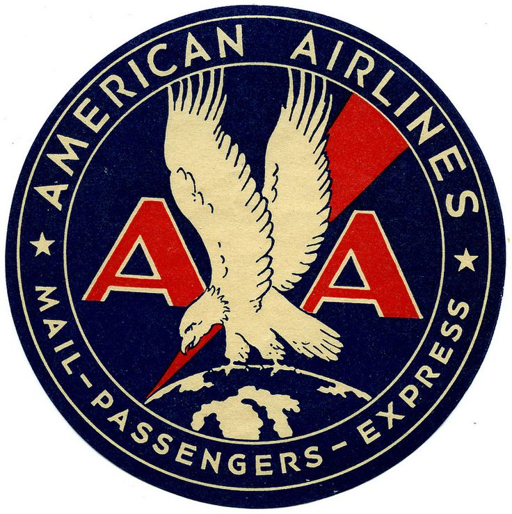 ephemera - American Airlines sticker ca. 1936